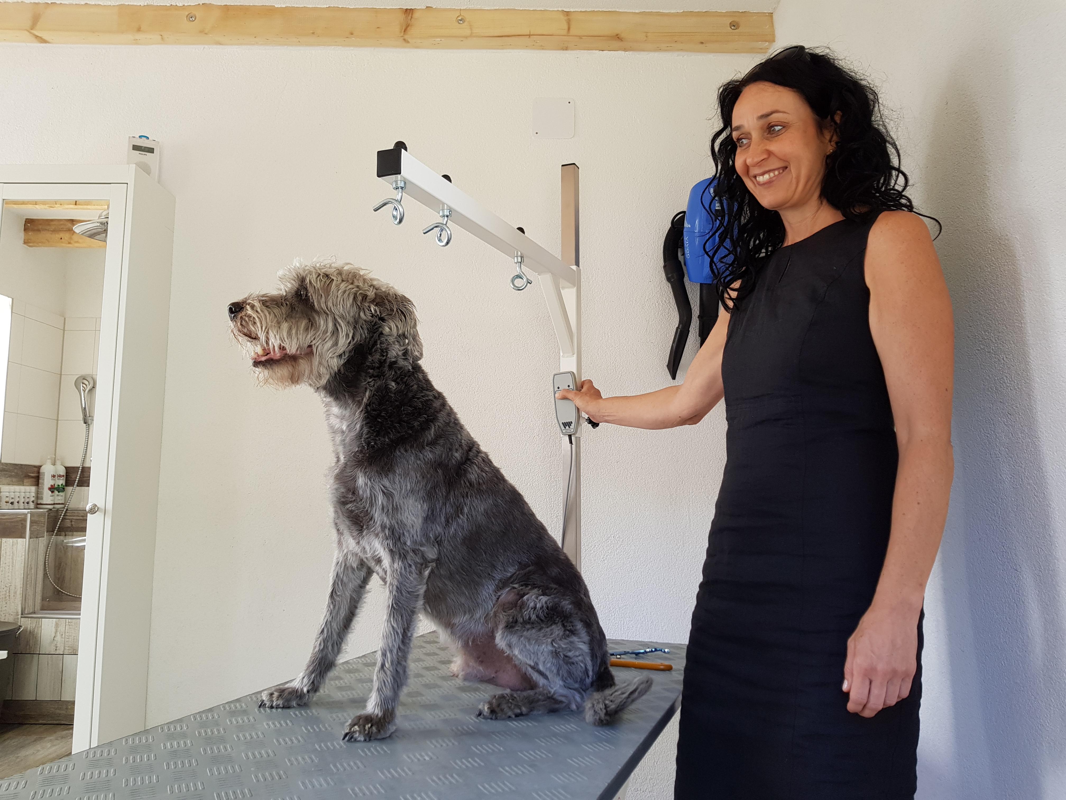 Wer arbeitet im Hundesalon Fellrevier? Das bin ich: Rita Brüggemann